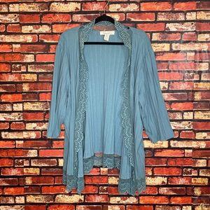 4X Blue Lace Roaman's Kimono